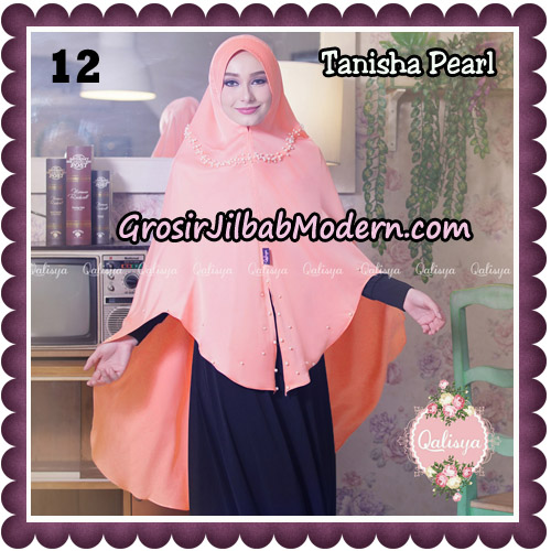 Jilbab Syari Khimar Tanisha Pearl Original by Qalisya Hijab Brand No 12