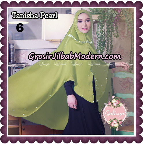 Jilbab Syari Khimar Tanisha Pearl Original by Qalisya Hijab Brand No 6