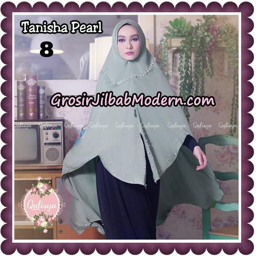 Jilbab Syari Khimar Tanisha Pearl Original by Qalisya Hijab Brand No 8