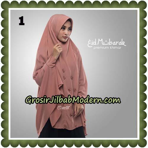 Jilbab Cantik Eid Mubarok Premium Khimar Original By Oneto Hijab Brand No 1