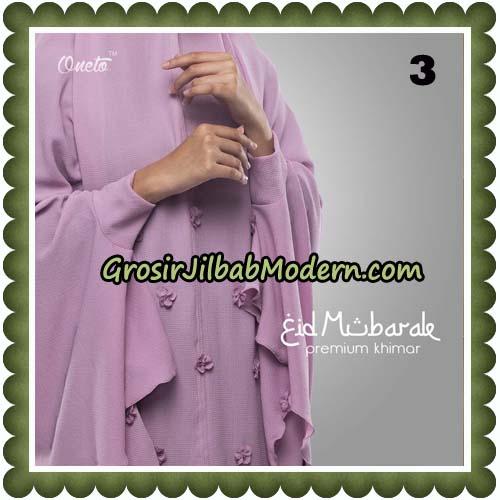 Jilbab Cantik Eid Mubarok Premium Khimar Original By Oneto Hijab Brand No 3