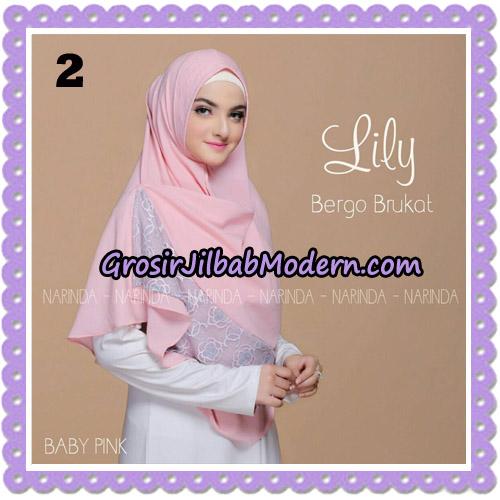 Jilbab Instant Lily Bergo Brukat Original By Narinda Hijab Brand No 2