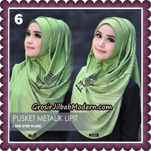 Jilbab Instant Plisket Metalik Lipit Original By Flow Idea Hijab No 6