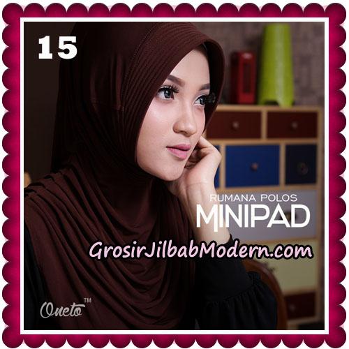 Jilbab Cantik Rumana Polos Minipad Seri 2 Original By Oneto Hijab Brand No 15