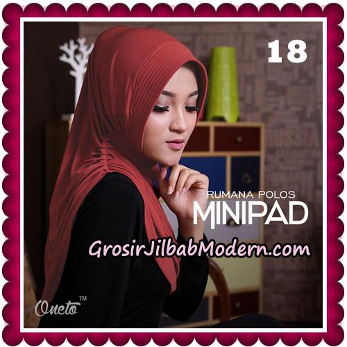 Jilbab Cantik Rumana Polos Minipad Seri 2 Original By Oneto Hijab Brand No 18