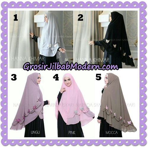 Jilbab Cantik Hanna Khimar Original By Narinda Hijab Brand