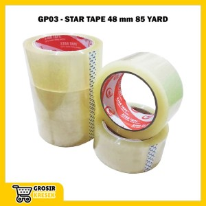 Grosir Isolasi Plester Lakban Transparan Bening Gold Tape 48mm GP03