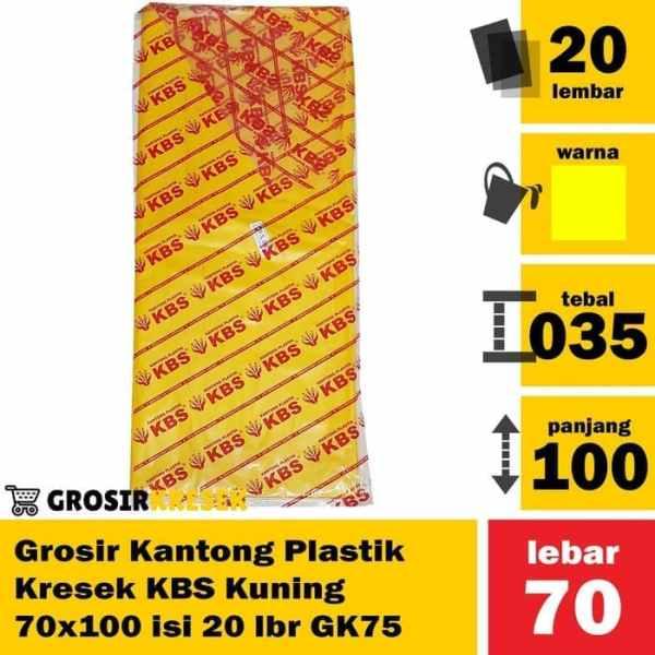 Grosir Kantong Plastik Kresek Sampah KBS Kuning 70x100 isi 20 lbr GK75