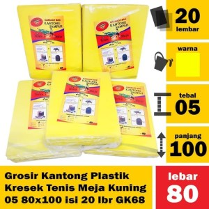 Grosir Kantong Plastik Kresek Tenis Meja Kuning 05 80x100 isi20lb GK68
