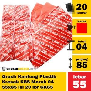 Grosir Kantong Plastik Kresek KBS Merah 04 55x85 isi 20 lbr GK65