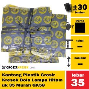 Kantong Plastik Grosir Kresek Bola Lampu Hitam uk 35 Murah GK58