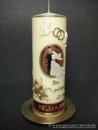 GrossartKerzende  Hochzeitskerze Zur goldenen Hochzeit
