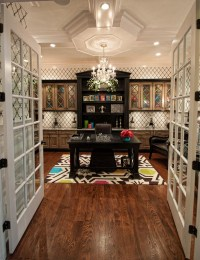 Crystal Chandelier in Home Office - Gross Electric