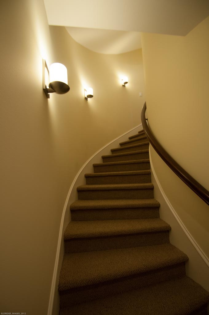Sconces in Stairway  Gross Electric