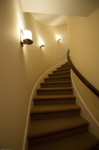 Sconces in Stairway - Gross Electric