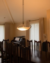 Hubbardton Forge Pendant In Dining Room - Gross Electric