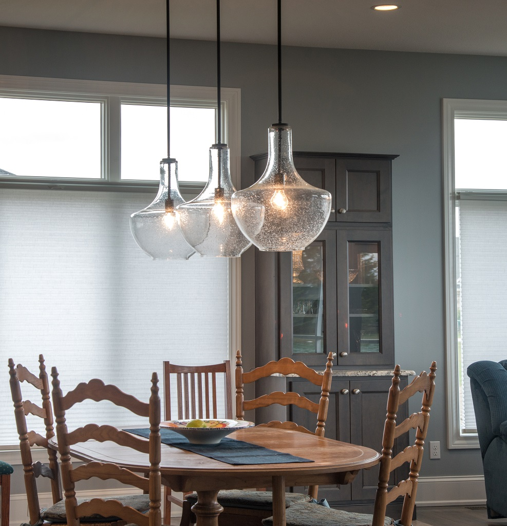 industrial kitchen lights storage table kichler everly pendant in - gross electric