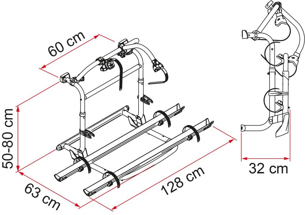 medium resolution of el carry bike pro c se puede instalar en todas las marcas de autocaravanas es recomendado por expertos en el campo porque es el portabicicletas ideal para