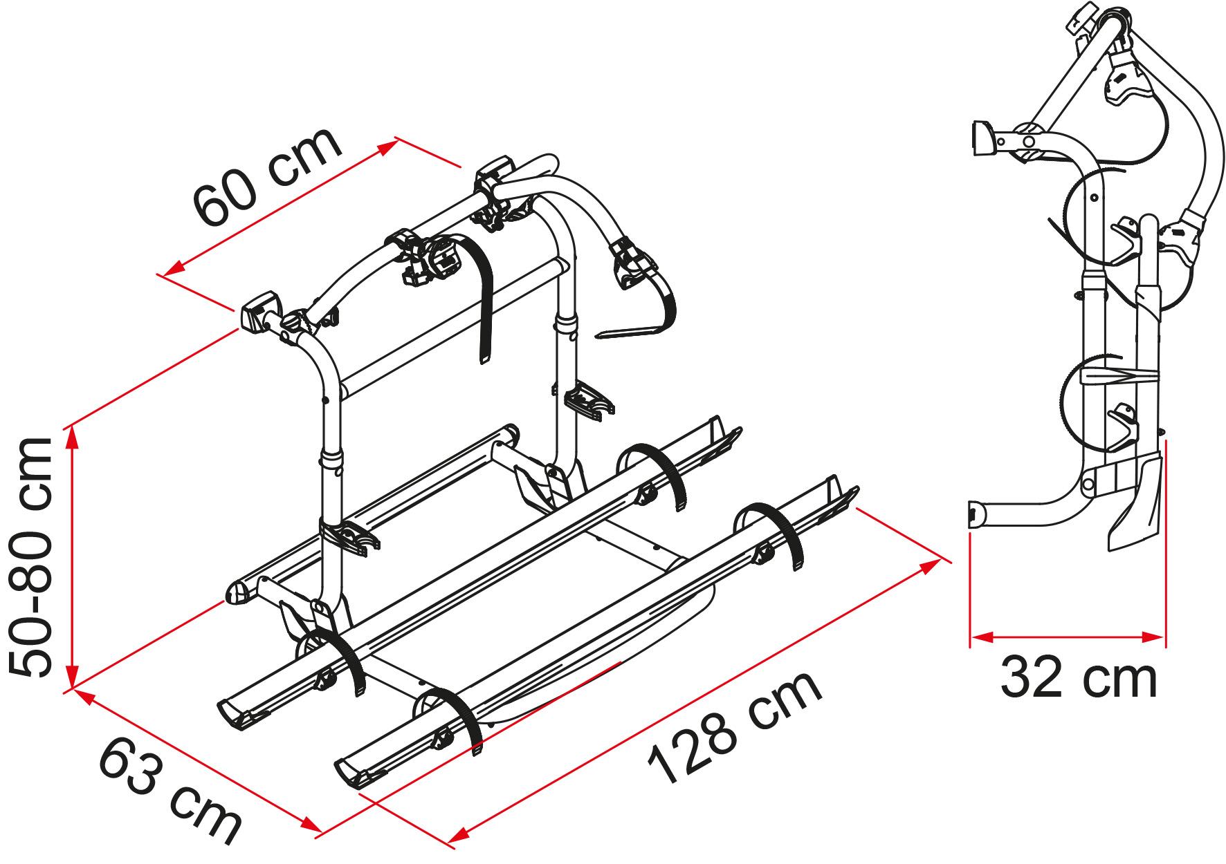 hight resolution of el carry bike pro c se puede instalar en todas las marcas de autocaravanas es recomendado por expertos en el campo porque es el portabicicletas ideal para