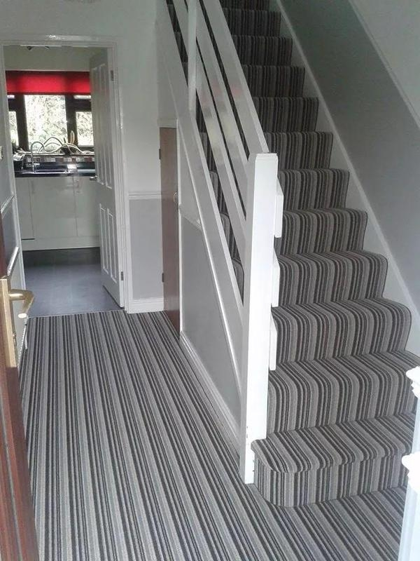 Stripe Carpet Stairs Hallway Grosvenor Flooring   Carpet For Stairs And Hallway   Living Room   Low Pile   Contemporary   Country Style   Quirky