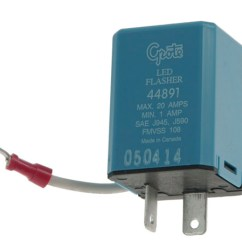 Trailer Wiring Diagram 6 Pin Round Motor 44891 - 2 Flasher, Variable-load Electronic Led
