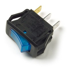 3 Pin Led Rocker Switch Wiring Diagram Solar Street Light 82-1904 - Illuminated, Blade, Blue
