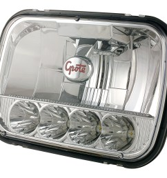 grote industries 90951 5 grote 5 7 led sealed beam replacement headlight [ 2772 x 2301 Pixel ]
