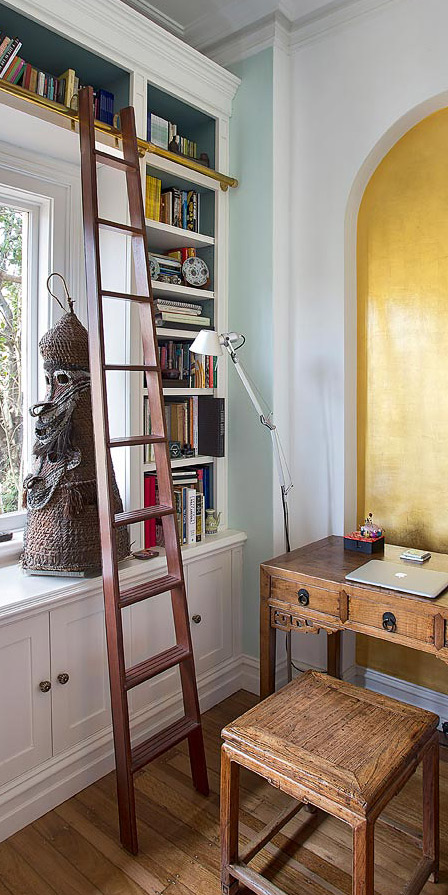 Library Ladder Design Sydney  Groth  Sons Interiors and