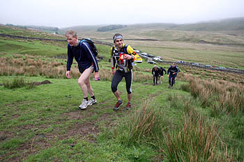 Fellsman competitors start the climb to Gragareth from Kingsdale during the 2007 event