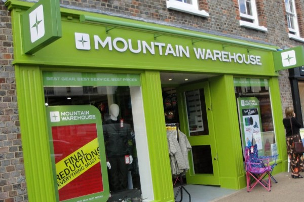 grough — Prepare for higher prices, Mountain Warehouse ...