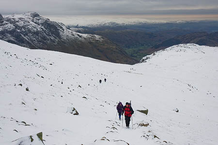 Winter conditions are still to be found on many Lakeland felltops