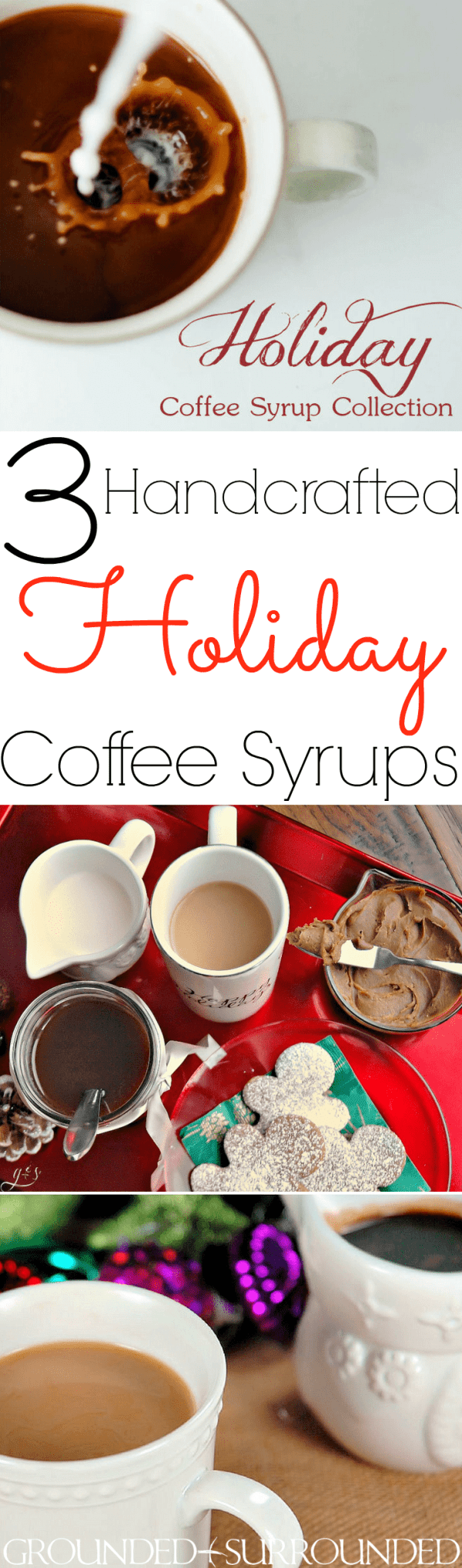 "3 Homemade Holiday Coffee Syrups | I started making these easy and healthy (""healthier"") flavored syrups (gingerbread, peppermint mocha, vanilla) years ago. How to Use: Add 1-2 Tbsp to coffee with 1-2 Tbsp half and half or almond milk. These homemade syrups recipe can be used for other things as well like flavoring hot cocoa, pouring over ice cream, or as a dessert topping. You will love these Starbucks copycats and never go back to store brands like Torani (no hard feelings!) again!"