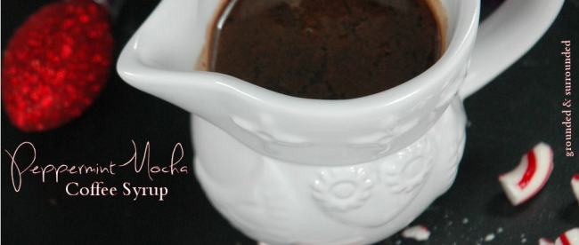 Peppermint Mocha Coffee Syrup Featured
