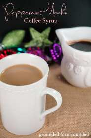 Peppermint Mocha Coffee Syrup | Grounded and Surrounded Seriously tastes just like a Peppermint Mocha Latte from Starbucks without any weird ingredients! -Sammi