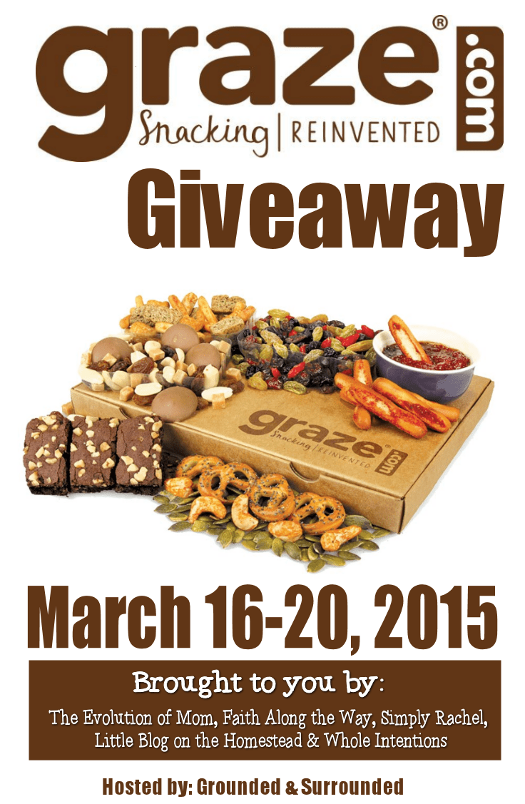 Click here to enter for your chance to win 1 of 2 Graze Vouchers.  This Graze giveaway runs from March 16-21, 2015 and is brought to you by 6 AMAZING bloggers.