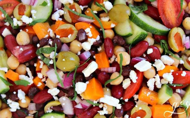 Mediterranean Tri-Bean Salad