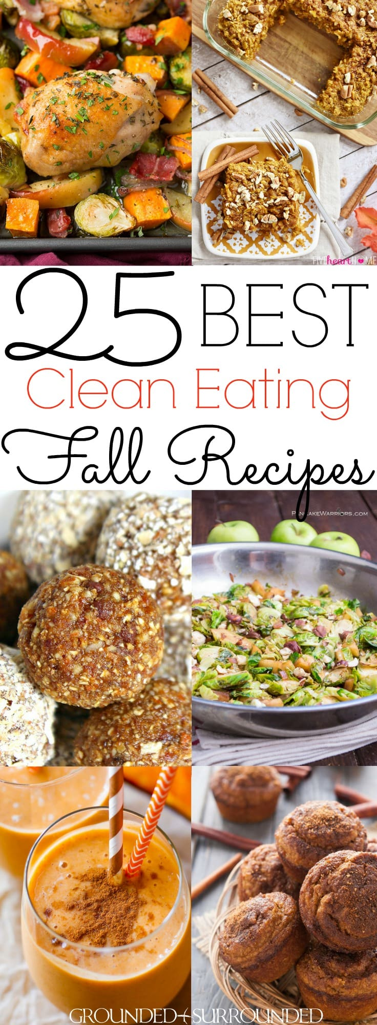The 25 BEST Clean Eating Fall Recipes | Autumn is my favorite season to cook healthy and easy meals. You will find delicious breakfast, dinner, lunch, dessert and snack ideas. Not to mention soup, stew and drinks that use pumpkin, apple, brussels sprouts and squash recipes to satisify your need for classic, comforting and cozy flavors! Most are #glutenfree / #Paleo / #lowcarb / dairy free, but vegetarian and vegan substitutions can be made too. #cleaneating #fall
