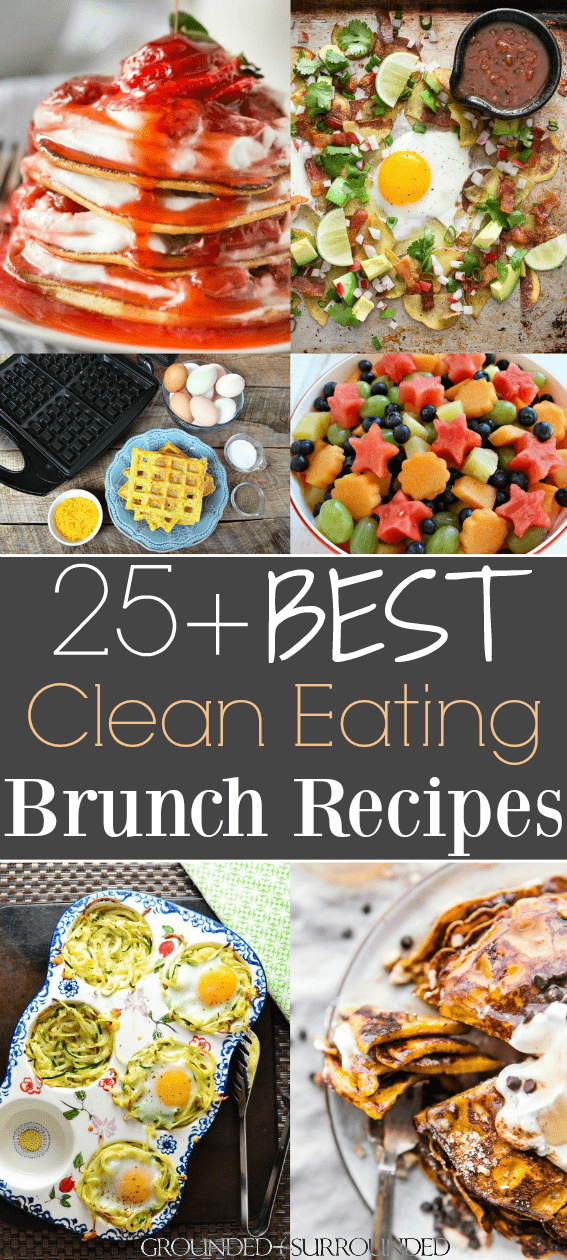 These healthy ideas will have you begging for seconds! This Mothers Day or Easter food menu has make ahead dishes, casseroles, waffles, pancakes, eggs, fruit salads, spinach salads, and easy \