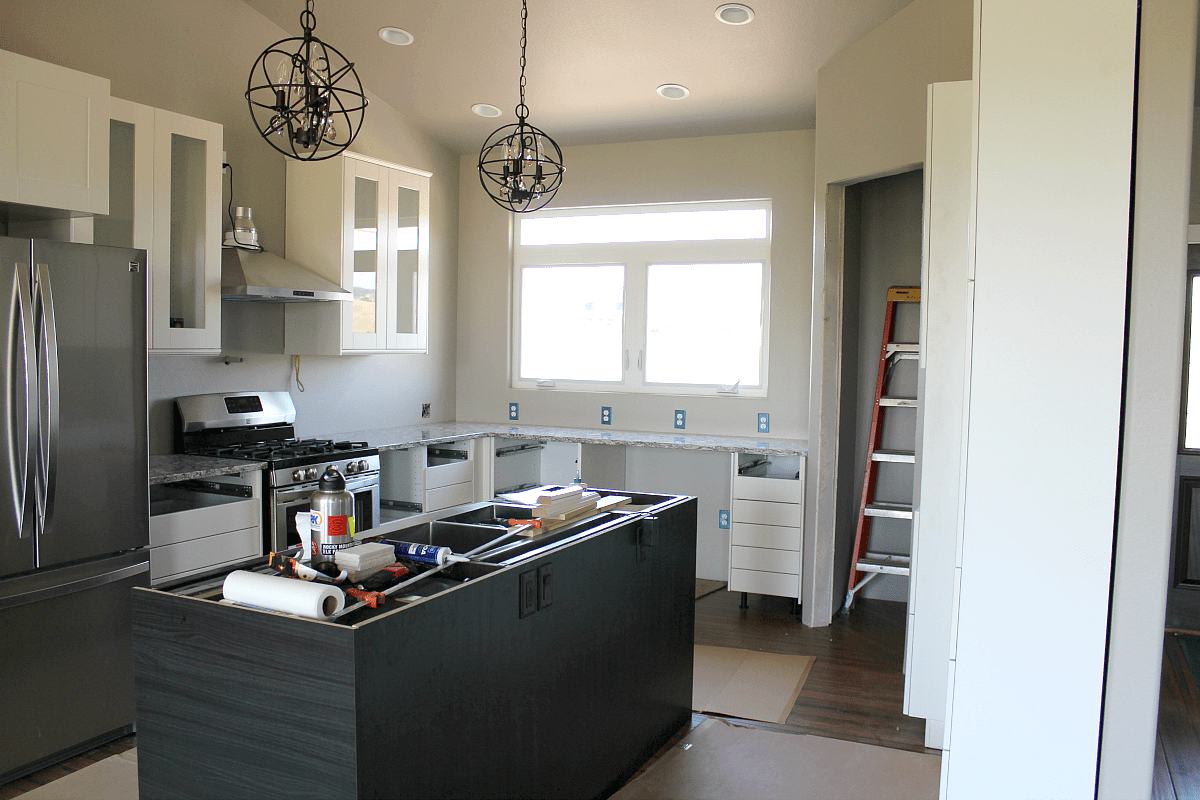 New Kitchen: Cambria Quartz In Bellingham, Island Pendants From Wayfair,  Ikea Cabinets,