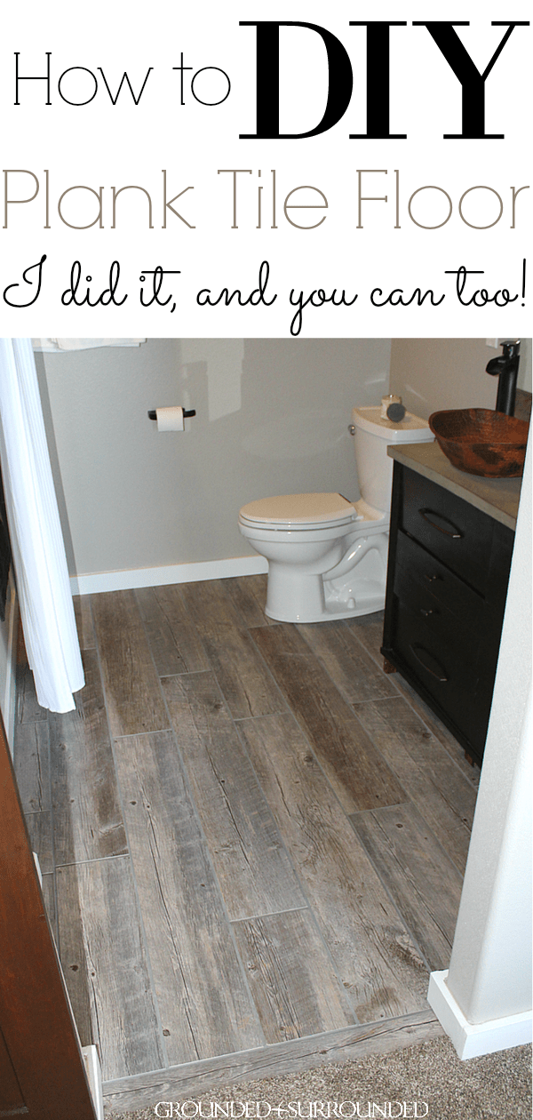 DIY How To Lay Bathroom Floor Tile Planks | Our Master Suite Bathroom Floor  Is Rustic