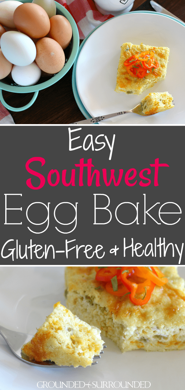 The BEST Southwest Egg Bake | A healthy breakfast is the perfect way to start the day. This gluten free and clean eating casserole is packed with flavor yet only uses a handful of ingredients. Eggs, plain Greek yogurt, oat flour, canned chopped green chiles, and pepperjack cheese are all you need! You can make this easy low carb recipe for weekly meal prep too! You can even prep this overnight and bake in the morning. #eggs #cleaneating #breakfast #mealprep