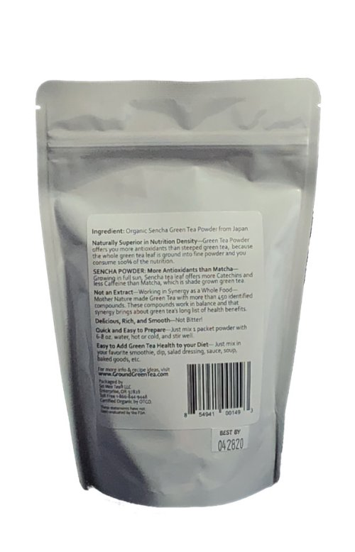 Edible Green Single Serving Packets Back