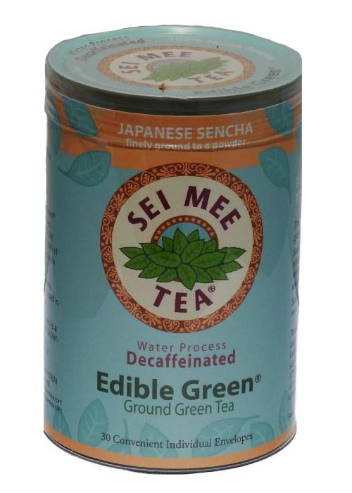 Edible Green Tea Sencha Powder Water Process Decaffeinated Single Serving Packets