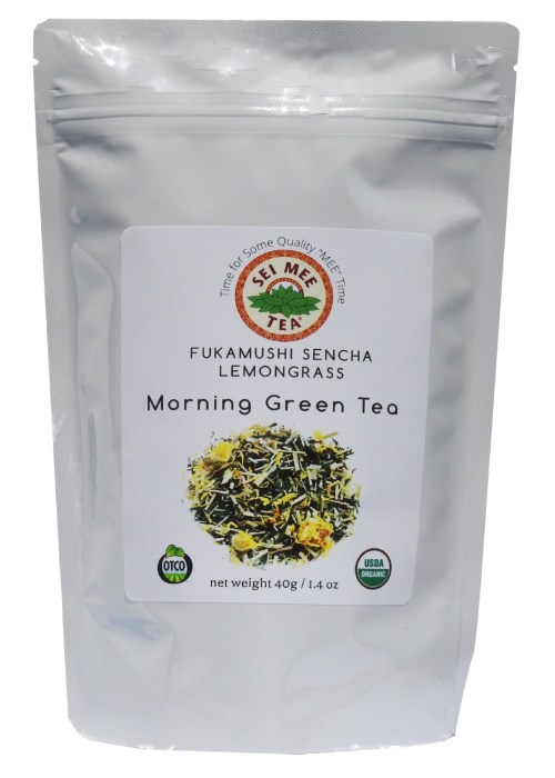 Fukamushi Sencha Lemongrass Morning Green Tea, Organic