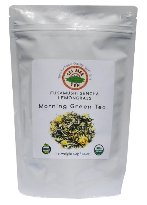 Fukamushi Sencha Lemongrass Morning Green Tea, Organic