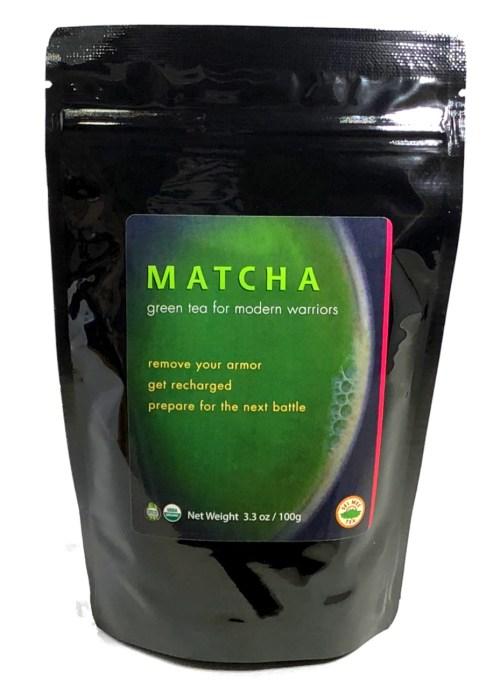 MATCHA green tea for modern warriors, Organic - 100 cup pouch