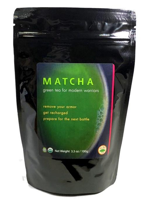 MATCHA green tea for modern warriors, Organic - 100 cup pouch