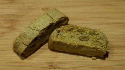 Gluten Free Biscotti made with Matcha