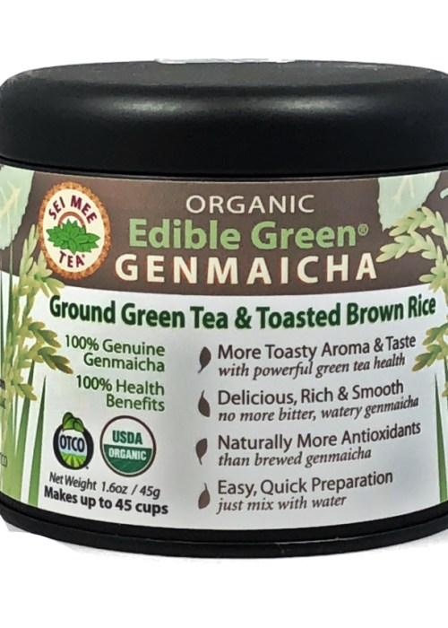 Organic GENMAICHA powder 45 cup Gift Tin