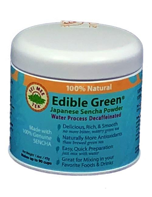decaf green tea powder, edible green tea